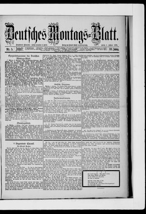 Berliner Tageblatt und Handels-Zeitung on Feb 3, 1879
