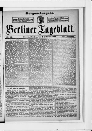 Berliner Tageblatt und Handels-Zeitung vom 04.02.1879