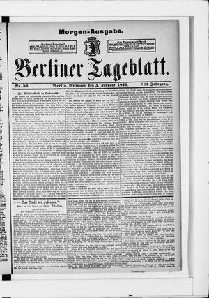Berliner Tageblatt und Handels-Zeitung vom 05.02.1879