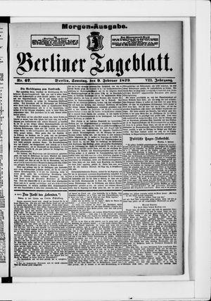 Berliner Tageblatt und Handels-Zeitung vom 09.02.1879