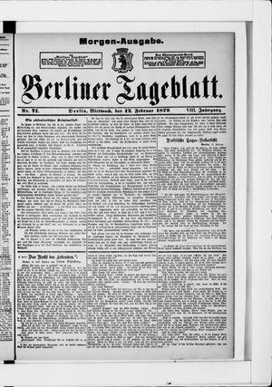 Berliner Tageblatt und Handels-Zeitung vom 12.02.1879