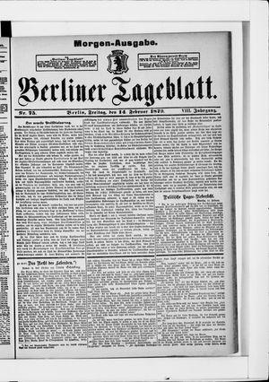Berliner Tageblatt und Handels-Zeitung vom 14.02.1879