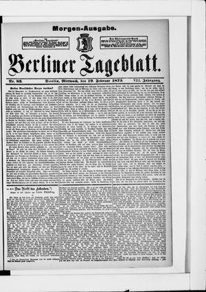 Berliner Tageblatt und Handels-Zeitung on Feb 19, 1879