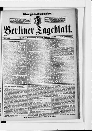 Berliner Tageblatt und Handels-Zeitung on Feb 20, 1879