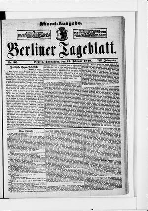 Berliner Tageblatt und Handels-Zeitung vom 22.02.1879