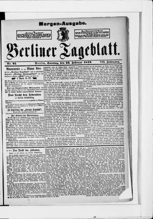 Berliner Tageblatt und Handels-Zeitung vom 23.02.1879