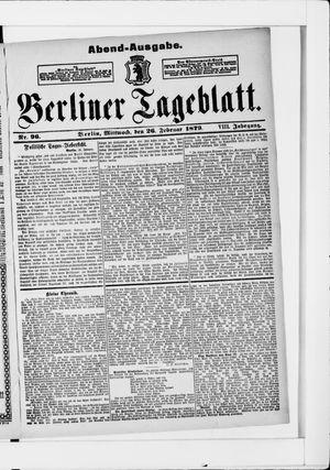 Berliner Tageblatt und Handels-Zeitung vom 26.02.1879