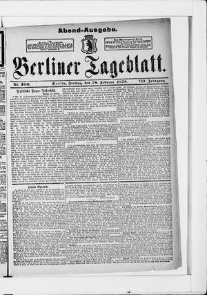 Berliner Tageblatt und Handels-Zeitung vom 28.02.1879