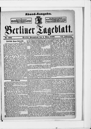 Berliner Tageblatt und Handels-Zeitung on Mar 1, 1879