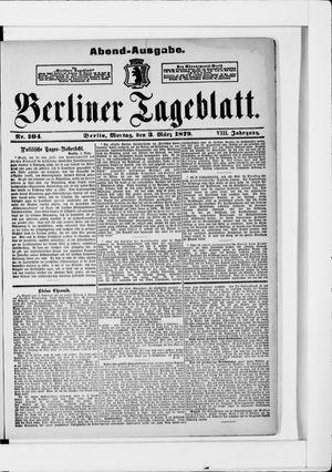 Berliner Tageblatt und Handels-Zeitung vom 03.03.1879