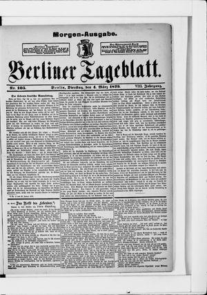 Berliner Tageblatt und Handels-Zeitung on Mar 4, 1879