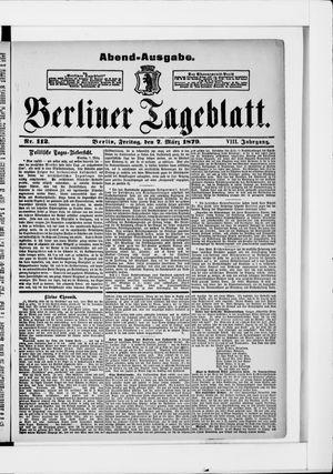 Berliner Tageblatt und Handels-Zeitung vom 07.03.1879