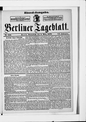 Berliner Tageblatt und Handels-Zeitung vom 08.03.1879