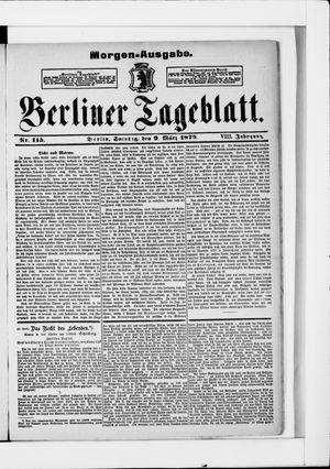 Berliner Tageblatt und Handels-Zeitung vom 09.03.1879