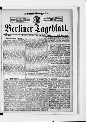 Berliner Tageblatt und Handels-Zeitung vom 10.03.1879