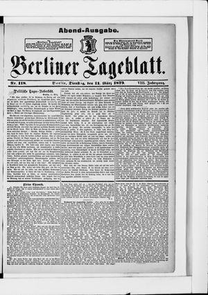 Berliner Tageblatt und Handels-Zeitung vom 11.03.1879