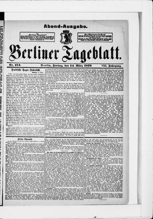 Berliner Tageblatt und Handels-Zeitung vom 14.03.1879