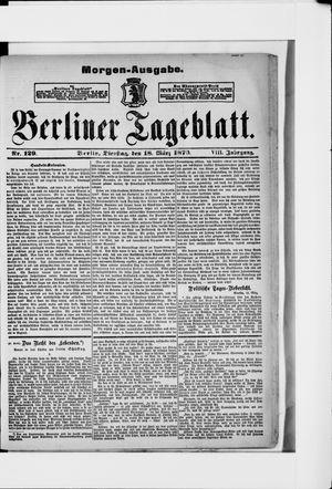 Berliner Tageblatt und Handels-Zeitung vom 18.03.1879