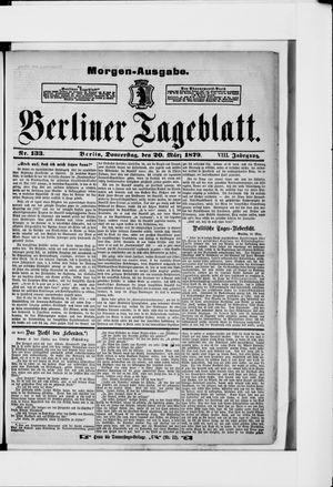 Berliner Tageblatt und Handels-Zeitung vom 20.03.1879