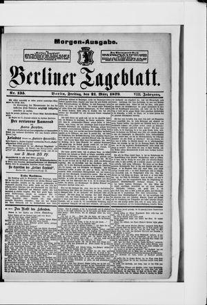 Berliner Tageblatt und Handels-Zeitung vom 21.03.1879