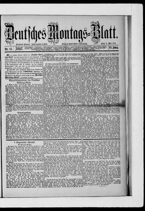 Berliner Tageblatt und Handels-Zeitung vom 31.03.1879