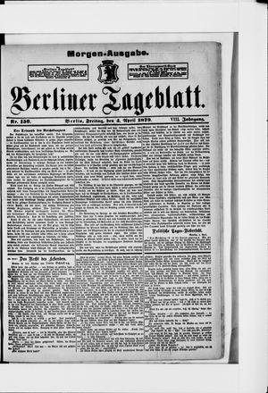 Berliner Tageblatt und Handels-Zeitung vom 04.04.1879