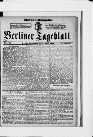 Berliner Tageblatt und Handels-Zeitung vom 05.04.1879