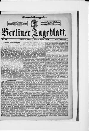 Berliner Tageblatt und Handels-Zeitung vom 07.04.1879