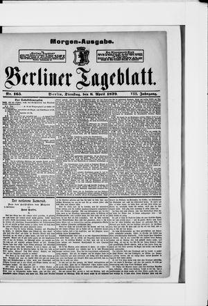 Berliner Tageblatt und Handels-Zeitung vom 08.04.1879