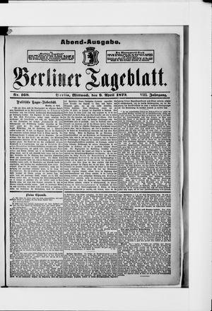 Berliner Tageblatt und Handels-Zeitung vom 09.04.1879