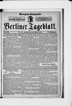 Berliner Tageblatt und Handels-Zeitung vom 11.04.1879