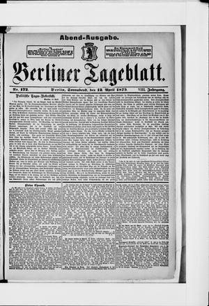 Berliner Tageblatt und Handels-Zeitung vom 12.04.1879
