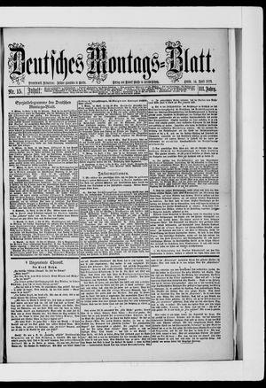 Berliner Tageblatt und Handels-Zeitung vom 14.04.1879