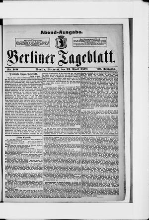 Berliner Tageblatt und Handels-Zeitung vom 23.04.1879