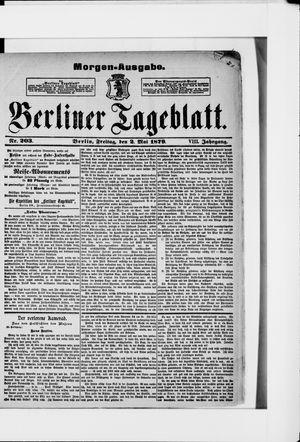 Berliner Tageblatt und Handels-Zeitung on May 2, 1879