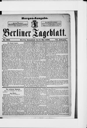 Berliner Tageblatt und Handels-Zeitung vom 03.05.1879