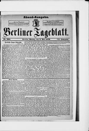 Berliner Tageblatt und Handels-Zeitung vom 05.05.1879