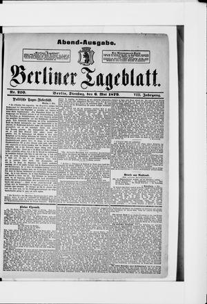 Berliner Tageblatt und Handels-Zeitung vom 06.05.1879