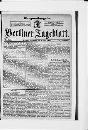 Berliner Tageblatt und Handels-Zeitung vom 07.05.1879