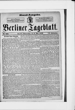 Berliner Tageblatt und Handels-Zeitung vom 08.05.1879