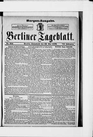 Berliner Tageblatt und Handels-Zeitung vom 10.05.1879