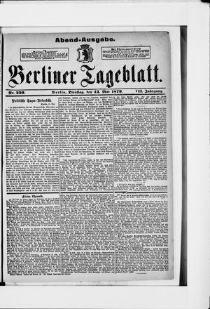 Berliner Tageblatt und Handels-Zeitung vom 13.05.1879