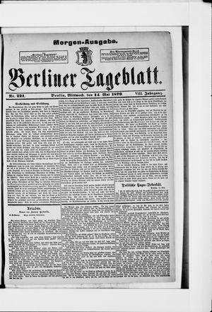Berliner Tageblatt und Handels-Zeitung vom 14.05.1879