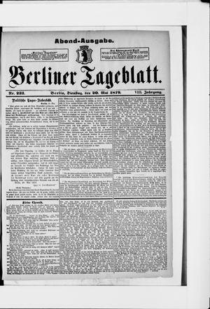 Berliner Tageblatt und Handels-Zeitung vom 20.05.1879