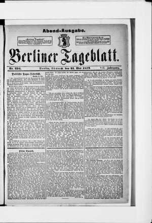 Berliner Tageblatt und Handels-Zeitung vom 21.05.1879