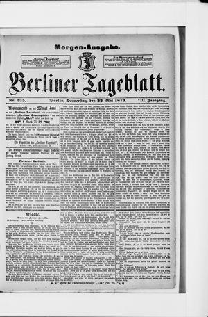 Berliner Tageblatt und Handels-Zeitung vom 22.05.1879