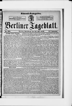 Berliner Tageblatt und Handels-Zeitung vom 24.05.1879