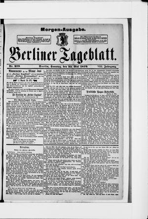 Berliner Tageblatt und Handels-Zeitung vom 25.05.1879