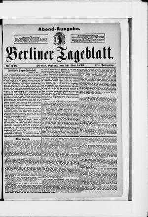 Berliner Tageblatt und Handels-Zeitung vom 26.05.1879