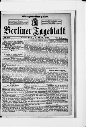 Berliner Tageblatt und Handels-Zeitung vom 27.05.1879